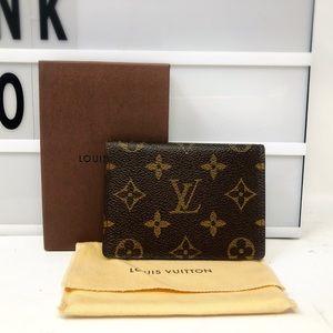 Louis Vuitton monogram pass case card holder